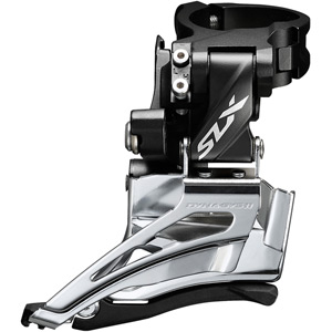 SLX M7025-H double 11-speed front derailleur, high clamp, down swing, dual-pull