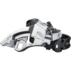 FD-M780-A XT 10-speed triple front derailleur, top swing, dual-pull