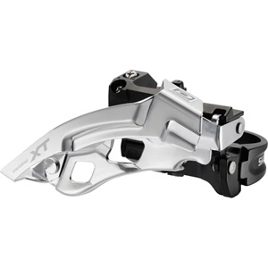 FD-M780 XT 10-speed triple front derailleur, top swing, dual-pull