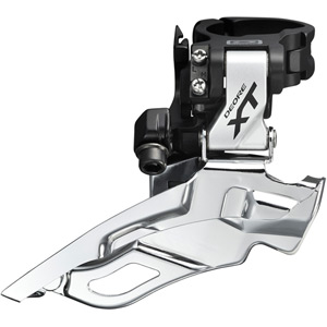 FD-M781-A XT 10-speed triple front derailleur, conventional swing, silver