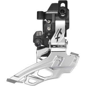 FD-M786 XT 10-speed double front derailleur, direct-fit, dual-pull, silver