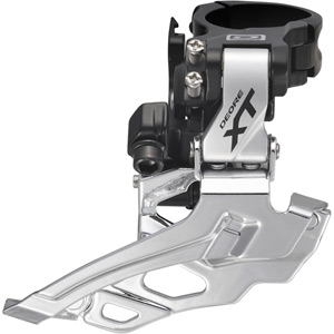 FD-M786 XT 10-speed double front derailleur, conventional swing, silver