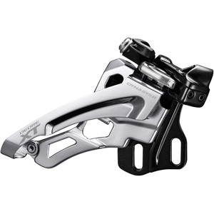 Deore XT M8000-H triple front derailleur, high clamp, side swing, front pull