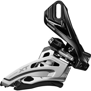 Deore XT M8025-D double front derailleur, direct mount, down swing, dual-pull