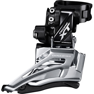 Deore XT M8025-H double front derailleur, high clamp, down swing, top-pull