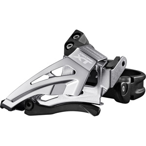Deore XT M8025-L double front derailleur, low clamp, top swing, down-pull