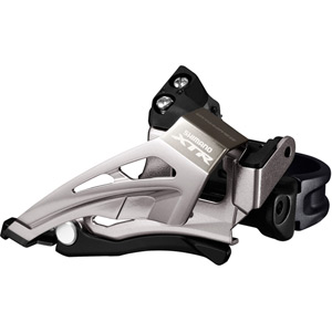 FD-M9025-E XTR double front derailleur, top swing, down pull, E-type