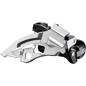 FD-T610 Deore front derailleur, top-swing, dual-pull and multi fit, 66-69 deg