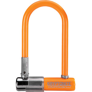 Kryptonite KryptoLok Series 2 Mini - with FlexFrame U-bracket - Ltd Edition Orange orange