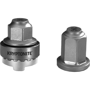 Kryptonite Security WheelNutz - M10 axle silver