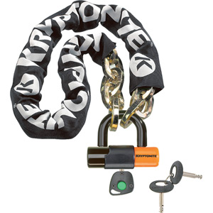 Kryptonite New York chain with series 4 disc lock 3 feet 3 inches (100 cm) blk/or
