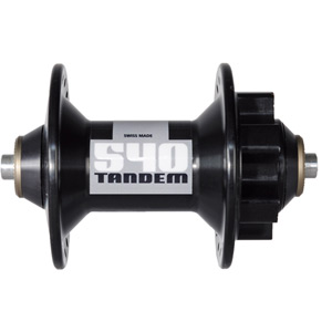 540 Tandem front hub disc 6-bolt 40 hole black