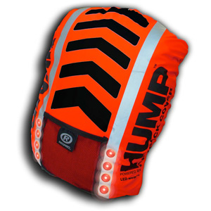 Hi-Viz Vegas Hump illuminated rucsac cover fluorescent red