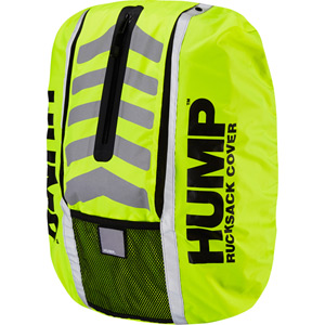 Double HUMP waterproof rucsac cover, safety yellow