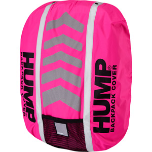 Deluxe HUMP waterproof rucsac cover, pink glo