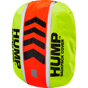 Original HUMP waterproof rucsac cover, safety yellow / shocking orange