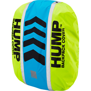 Original HUMP waterproof rucsac cover, safety yellow / atomic blue