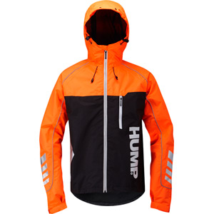 Signal men's waterproof jacket, shocking orange small