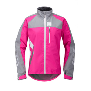Strobe women's waterproof jacket, pink glo size 16