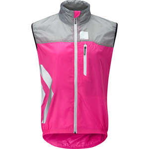 Flare women's gilet, pink glo size 16