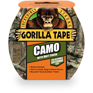 Gorilla Camo Tape 8.2m x 48mm Roll Pack of 8