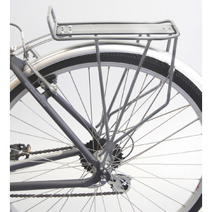Trail rear pannier rack - silver