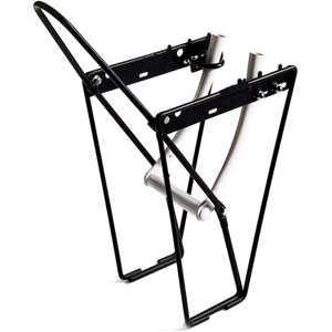 FLRB front low rider rack with mounting brackets and hoop - alloy black