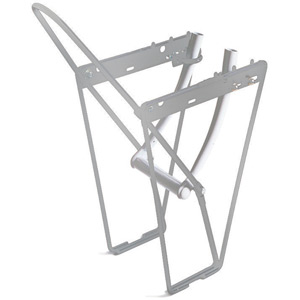 FLRB front low rider rack with mounting brackets and hoop - alloy silver