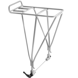 AX3D disc compatible rear rack with QR - alloy silver