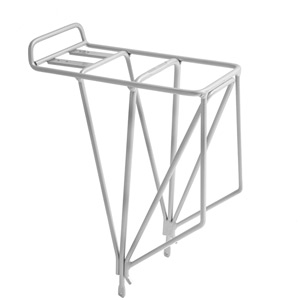 AX4 rear rack with 4 vertical spurs - alloy silver