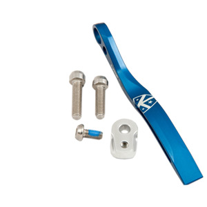 Pro road braze-on double chain catcher - blue