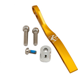 K-Edge Pro road braze-on double chain catcher - gold gold