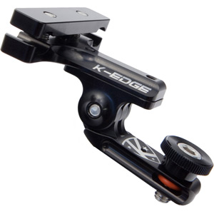 K-Edge Go Big Pro 1/4 - 20  Saddle rail with Adapter - black black