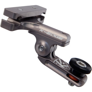 Go Big Pro 1/4 - 20  Saddle rail with Adapter - gunmetal