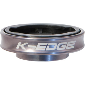K-Edge Gravity Cap Mount for Garmin Edge and FR 1/4 Turn type computers - gunmetal gunmetal