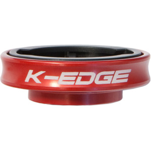 K-Edge Gravity Cap Mount for Garmin Edge and FR 1/4 Turn type computers - red red