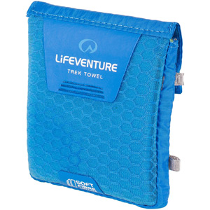 Lifeventure SoftFibre Trek Towel - Pocket - Blue (Pack of 10) blue