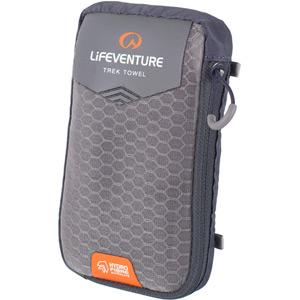 Lifeventure HydroFibre Trek Towel - X Large - Grey grey
