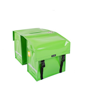 Waterproof double pannier with lock ring, apple green