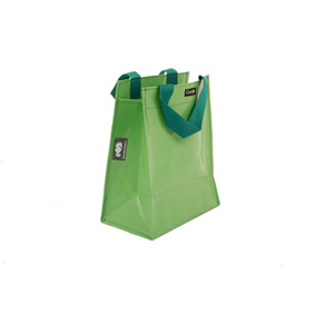 Single inner sleeve shopping bag to fit Clarijs pannier, apple green