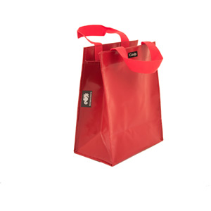 Single inner sleeve shopping bag to fit Clarijs pannier, red