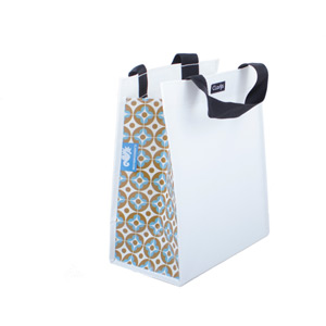 Single inner sleeve shopping bag to fit Clarijs pannier, retro pattern