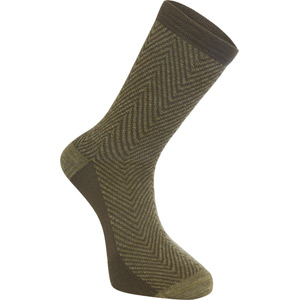 Assynt merino long sock, herringbone