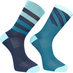 Sportive long sock twin pack, hazard