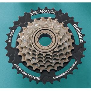 MF-TZ30 6-speed multiple freewheel, 14-34 T MegaRange