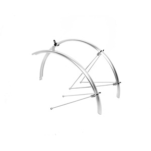 700 x 35mm Commute mudguards silver