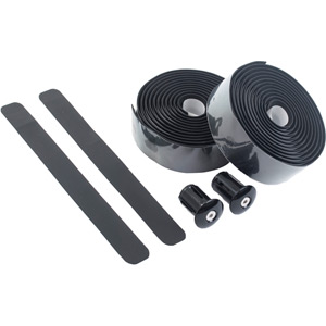Primo anti-slip bar tape with shock-absorbent silicone gel, black