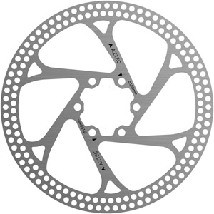 Stainless steel fixed disc rotor with circular cut outs - 180 mm