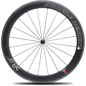 58 Twenty Four Full Carbon Clincher Wheel - Front