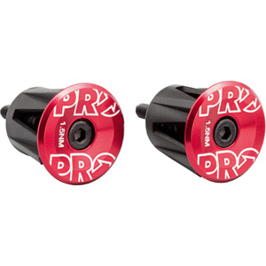 Handlebar end plug, anodized alloy, red
